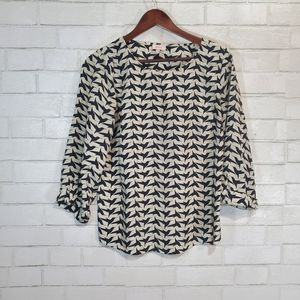 Stitch Fix Pixley brand bird blouse